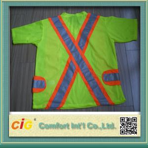 China Orange Red Green Pink Traffic Safety Vest Reflective Clohting for Security 100% Polyester on sale