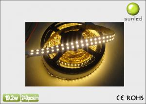 China 10m hotel / household decoration12V, 24V DC IP20 Flexible Led Strip Lights (240 / m) on sale