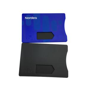 China Secure Protection RFID Blocking Card Sleeve Hot Stamping Gold Silver Color on sale