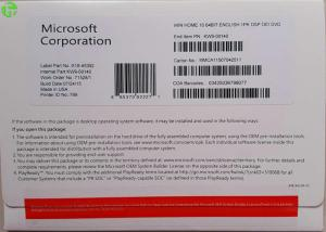 Quality Microsoft Widnows 10 Operating System COA Sticker Win 10 Home Product Key Code for sale