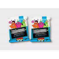 3 Side Seal Snack Food Laminated Flexible Plastic Zipper Pouch Colorful Printing