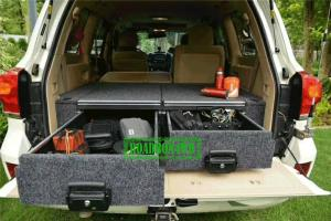 China OUTBACK STYLE 4WD REAR STORAGE DRAWER SYSTEMS AND CARGO BARRIERS AND RACK DIVIDERS FOR TOYOTA LAND CRUISER LC200 on sale