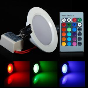 China Round Shape High Power Epistar 5W RGB LED Panel Light With Remote Control on sale