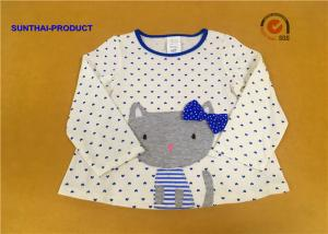 China 100% Cotton Baby Long Sleeve Tops , Kids Plain T Shirts For Fall / Winter on sale