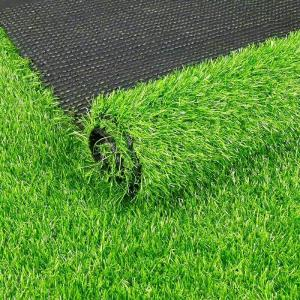 China 10mm Height Green Real Looking Artificial Grass 10000dtex Decoration For Music Band on sale