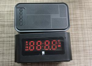 China Black Bluetooth Speaker Alarm Clock Wireless 1200mAh 60HZ - 18KHZ on sale