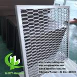 Metal Aluminum expanded mesh screen for facade both powder coated