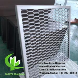 China Metal Aluminum expanded mesh screen for facade both powder coated on sale