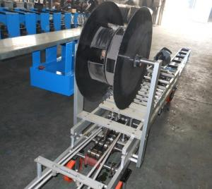 China Aluminum Portable Small Down Pipe Roll Forming Machine For Water Pipe on sale