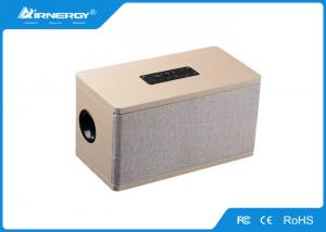 China Office / Home Wooden Wireless Speakers With Fabric Panel , 240*130*125mm on sale