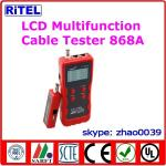 all-in-one LED display cable tester & locator 868 for wire, lan and coaxial cable with RJ11, RJ45, BNC, USB, 1394 ports