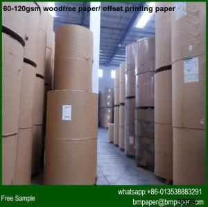 China Bright Color Woodfree Offset Paper A4 Size on sale