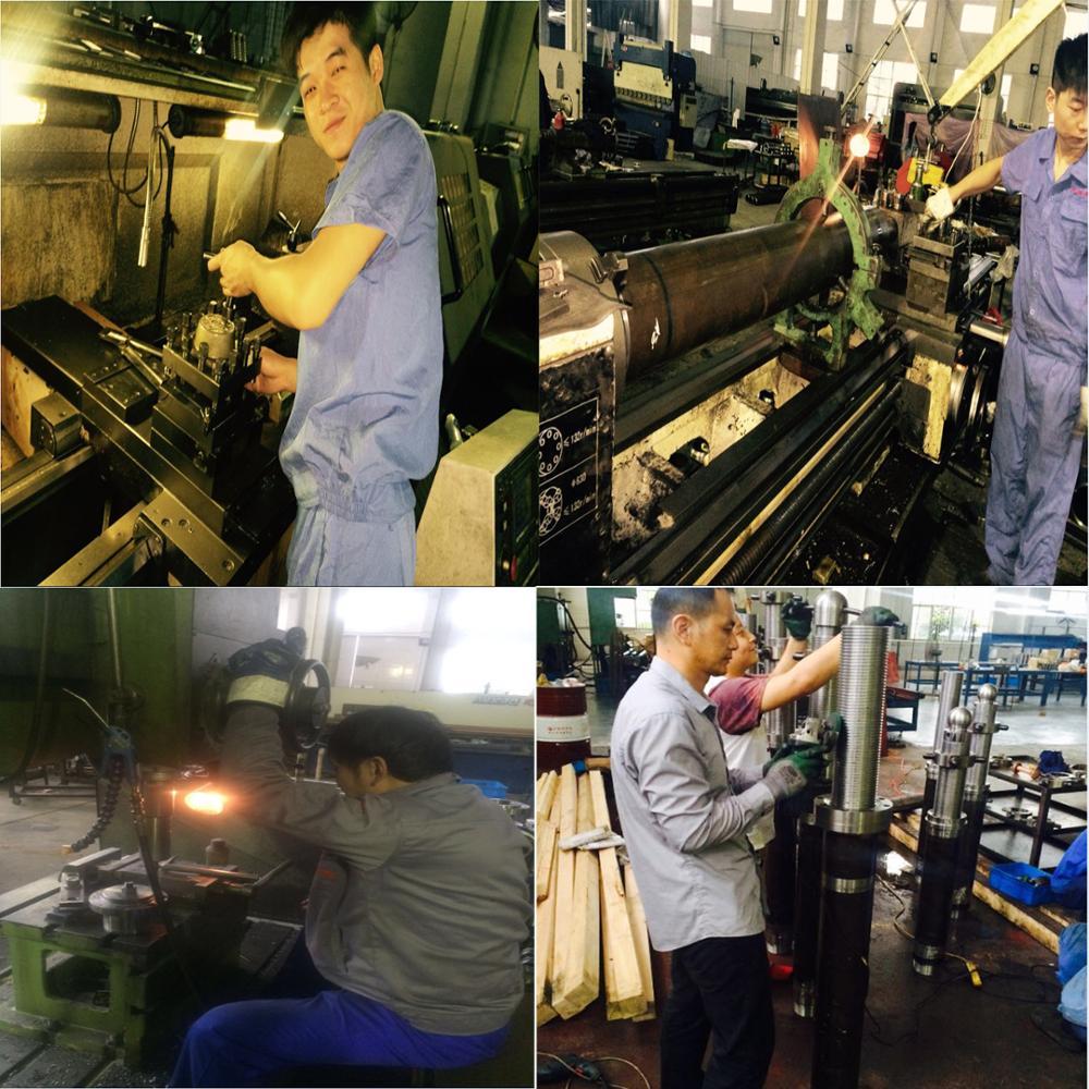 200kg capacity end bearing mount hydraulic cylinder for backhoe loader