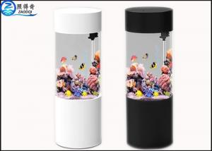 China Cylindrical Wall Panel Acrylic Custom Fish Tanks Aquarium Ecology 101L for Decorative on sale