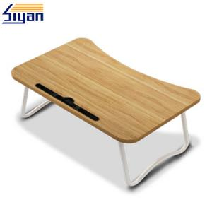 China Wood Grain PVC Film Laminated Adjustable Laptop Table Top Stand on sale