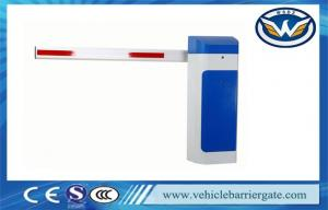 China Automatic Close 1.5s Vehicle Barrier Gate Heavy Duty Motor With LED And Rubber Arm on sale