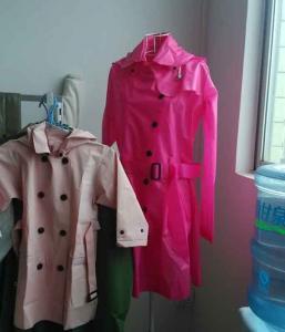 China RED color EVA raincoat on sale