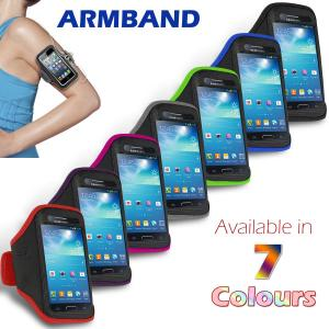 China Colorful Sport Armband Neoprene Samsung Cell Phone Cases For Galaxy S4 Mini on sale