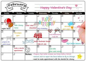 China Custom Dry Erase Magnetic Refrigerator Calendar , Magnetic Weekly Planner 12'' X 16'' on sale