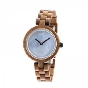China Boyear Custom Logo Wooden Watches Luxury Red Sandal Fashion Wood Watch Women,Ladies Fashion Watch on sale