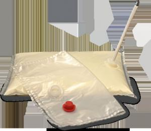 China 3 l Juice Flexible Alu Foil Bag Bib Aseptic Bag For Milk , Egg Liquid , Mayonnaise on sale