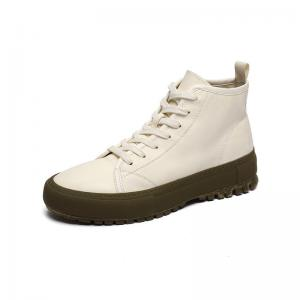 China Off White EU 46 Size Anti Odor Mens Leather Casual Boots Fleece Sock on sale
