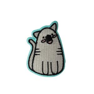 China Cute Cartoon Animal Custom Made Embroidered Patches For Clothes Or Cap on sale