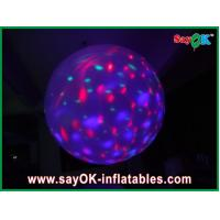 China Multi Color Inflatable Lighting Decoration Inflatable Ball With Led Lights , Purple on sale