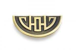 Quality Antique Brass Drawer Pulls Handles , Solid Steel Antique Dresser Handles for sale