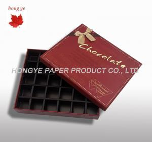 China Custom Chocolate Packaging Boxes , Candy Gift Boxes With Lids on sale