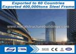 Commercial Offices / Hotels Prefabricated Steel Structures Buildings With Sliding / Rolling Door