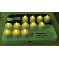 Customized yellow wireless induction LED candles rechargeable OF ABS plastic