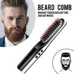 Natural hair styles tools for men original mini ceramic electronic cordless straightening hair brush comb