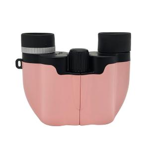 China Pink Color Mini Kids Play Binoculars 8x21 Toy Telescope Gift With Carrying Bag on sale