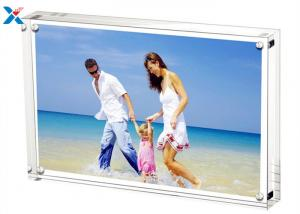 China 5*7'' Magnetic Acrylic Picture Photo Frame With 10mm + 10mm Side on sale