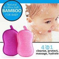 Wholesale eco-friendly bamboo fiber soft baby bath sponge for Child