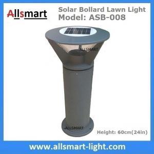 China Aluminum H60cm Solar  Bollard LED Lighting Parking-Lot Bicycle Path Solar Garden Lawn Lights Solar Sensor Lights on sale