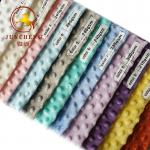 360gsm top quality various color minky dot fabric wholesale