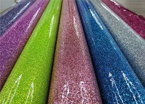 China Colorful Party Decoration Glitter Pvc Fabric 0.35mm Thickness For Sewing Bags on sale