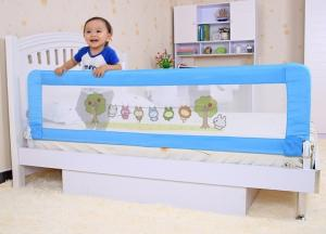 Foldable Safety Twin Bed Guard Rails Adjustable Crib Rail