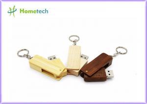 China Wooden Folding Twist USB Flash Drive Recorder Silk Screen Printing Logo on sale