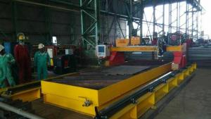 China Metal Plate Drill and Plasma Cutting machine 4x12m cutting area for sale on sale