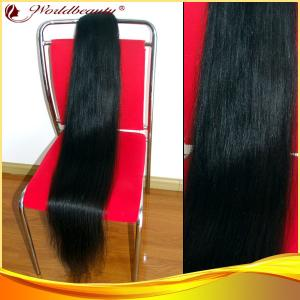 China Virgin Black Ponytail Real Hair Extensions Natural Wave 132cm on sale