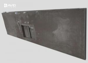 China Prefabricated Gray Quartz Kitchen Countertops Non Porous Crack Resistant on sale