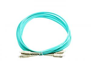 China SC Duplex Fiber Optic Patch Cord 10G OM3 Multimode Single Mode FC LC ST on sale