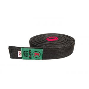 China 249CM Length Martial Arts Black Hemp Bjj Belt With 100% Cotton Silk Inside supplier