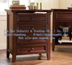 Wooden bedroom furniture, wooden bedside cabinet, wooden chest of drawers