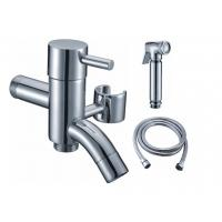China Two Ways Bib Cock With Arab Brass Shower And 1.2M Stainless Steel Hose on sale