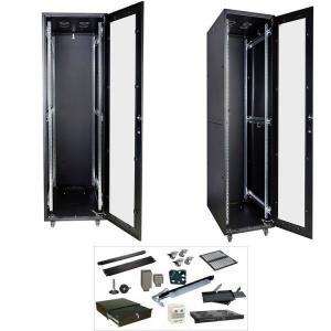 China 42U 19 Inch Network Rack Cabinet For Server / Router / Audio And Video Gear on sale