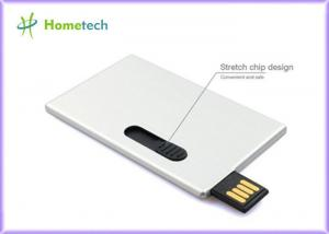 China Ultra thin aluminum alloy business card usb flash drive promotional gifts on sale